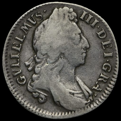 1696 William III Early Milled Silver Shilling Obverse