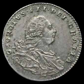 1800 George III Milled Silver Maundy Penny Obverse