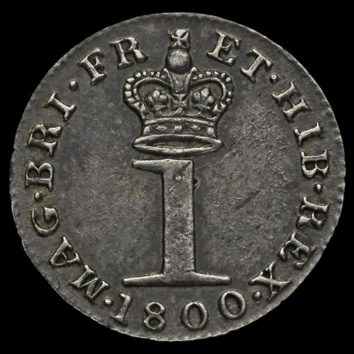 1800 George III Milled Silver Maundy Penny Reverse
