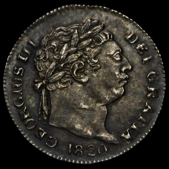 1820 George III Milled Silver Maundy Penny Obverse