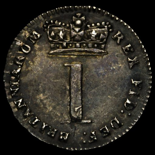 1820 George III Milled Silver Maundy Penny Reverse