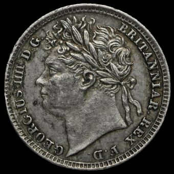 1829 George IV Milled Silver Maundy Penny Obverse