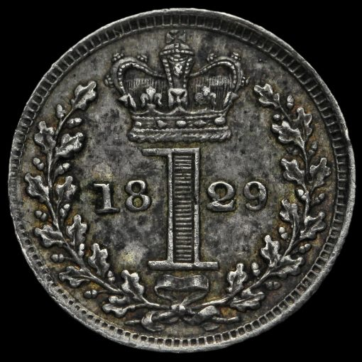 1829 George IV Milled Silver Maundy Penny Reverse