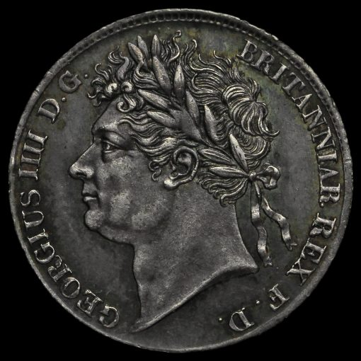 1829 George IV Milled Silver Maundy Fourpence Obverse