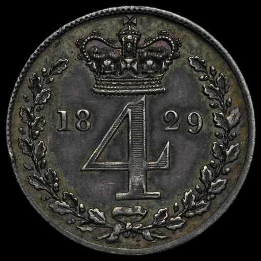 1829 George IV Milled Silver Maundy Fourpence Reverse