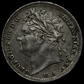 1830 George IV Milled Silver Maundy Penny Obverse