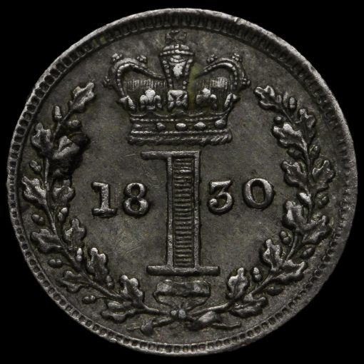 1830 George IV Milled Silver Maundy Penny Reverse
