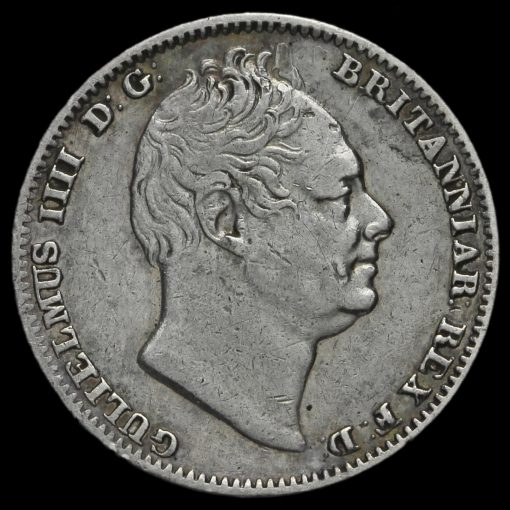 1833 William IV Milled Silver Maundy Fourpence Obverse
