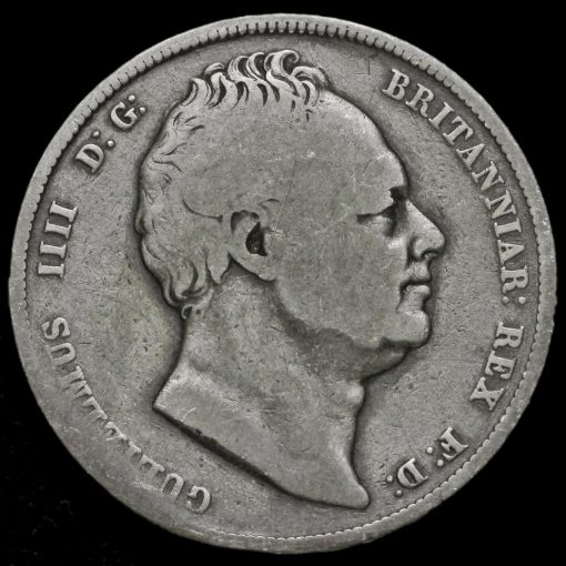 1834 William IV Milled Silver Half Crown Obverse