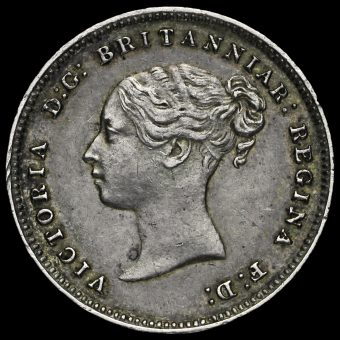 1880 Queen Victoria Silver Maundy Fourpence Obverse