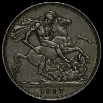 1887 Queen Victoria Jubilee Head Silver Crown Reverse