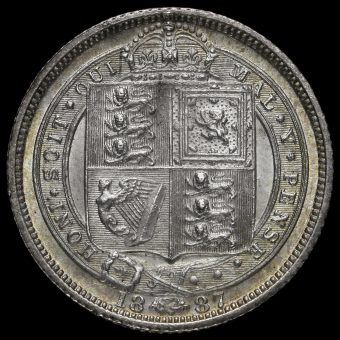 1887 Queen Victoria Jubilee Head Silver Sixpence Reverse