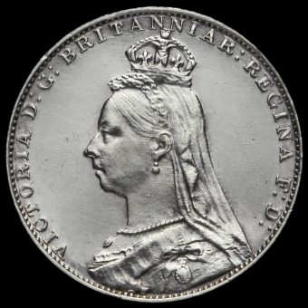 1888 Queen Victoria Jubilee Head Silver Maundy Fourpence Obverse