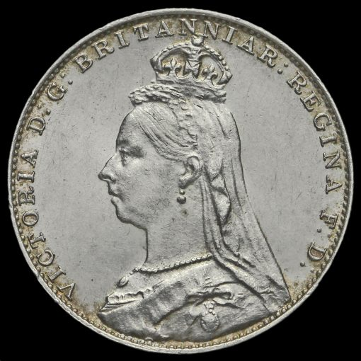 1892 Queen Victoria Jubilee Head Silver Maundy Fourpence Obverse
