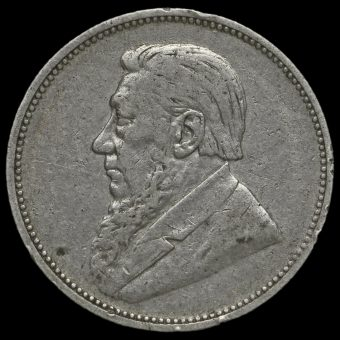 South Africa 1895 Silver 2 Shillings Obverse