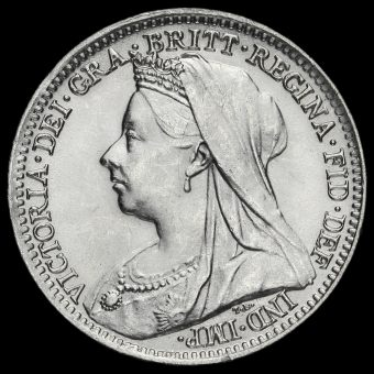 1901 Queen Victoria Silver Threepence Obverse