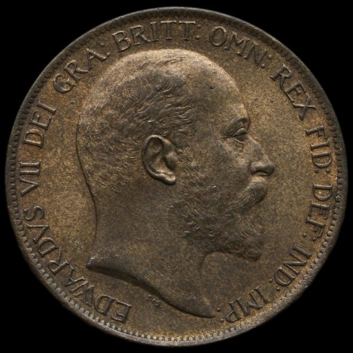1902 Edward VII High Tide Penny Obverse