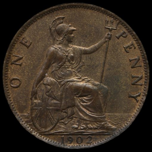 1902 Edward VII High Tide Penny Reverse