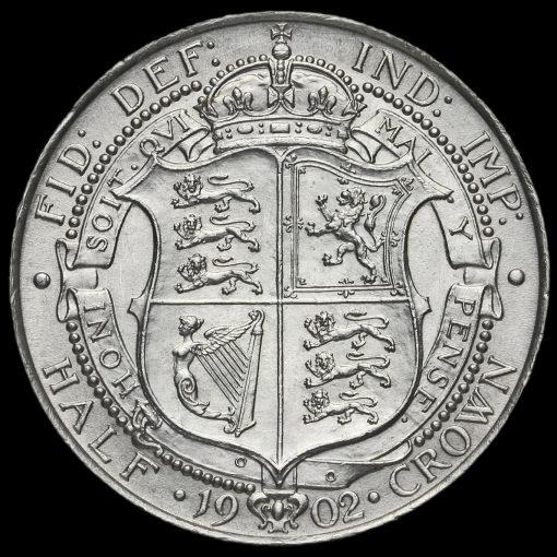 1902 Edward VII Silver Half Crown Reverse