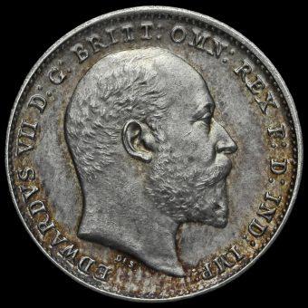 1902 Edward VII Silver Matt Proof Threepence Obverse