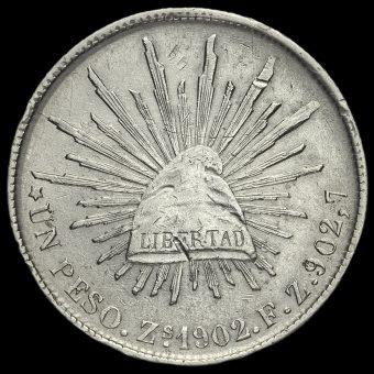 Mexico 1902 Silver 1 Peso Reverse