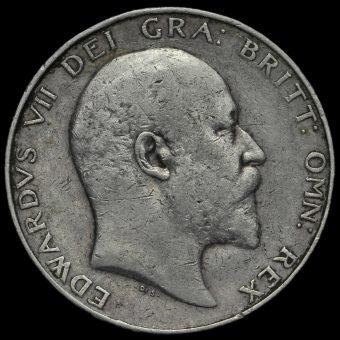 1903 Edward VII Silver Half Crown Obverse