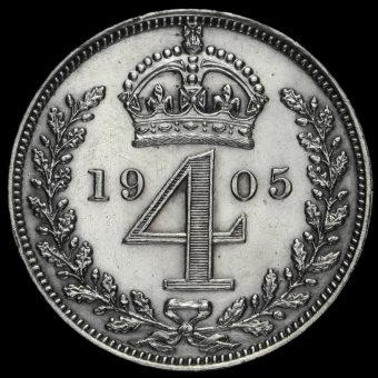 1905 Edward VII Silver Maundy Fourpence Reverse