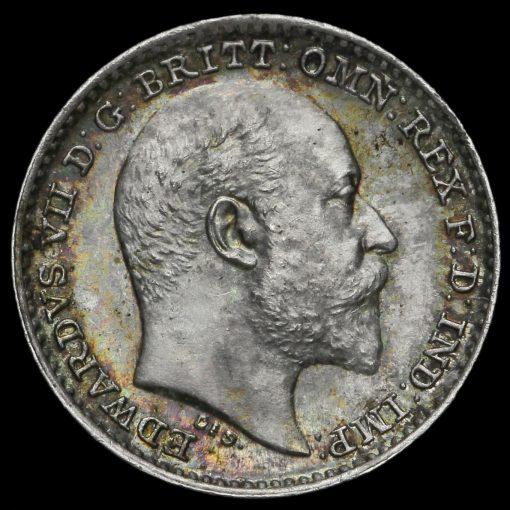 1906 Edward VII Silver Maundy Penny Obverse