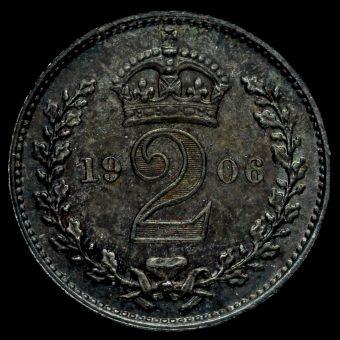 1906 Edward VII Silver Maundy Twopence Reverse