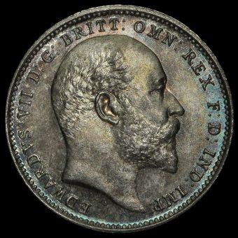 1907 Edward VII Silver Maundy Fourpence Obverse