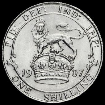1907 Edward VII Silver Shilling Reverse