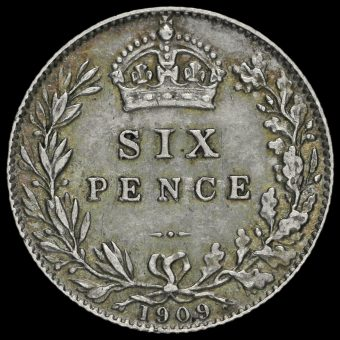 1909 Edward VII Silver Sixpence Reverse