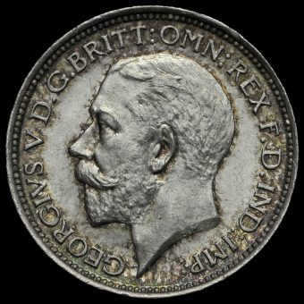 1911 George V Silver Maundy Fourpence Obverse