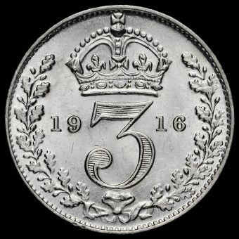 1916 George V Silver Threepence Reverse