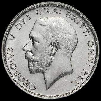 1920 George V Silver Half Crown Obverse