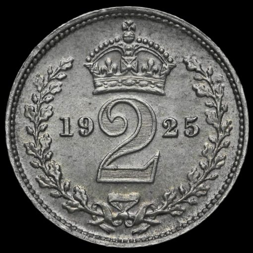 1925 George V Silver Maundy Twopence Reverse