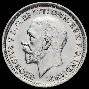 1926 George V Silver Threepence Obverse