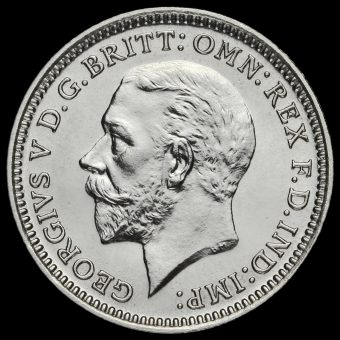 1927 George V Silver Proof Threepence Obverse