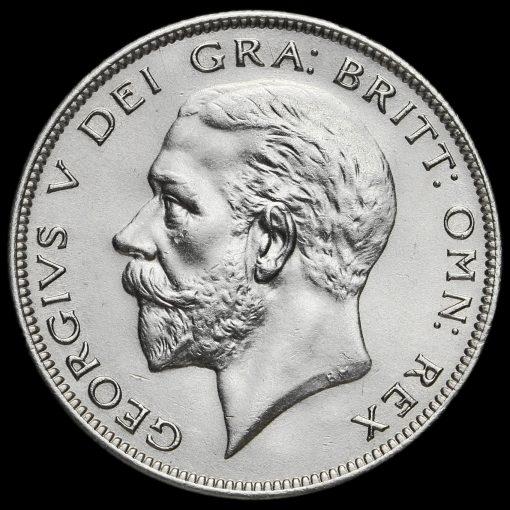 1928 George V Silver Half Crown Obverse