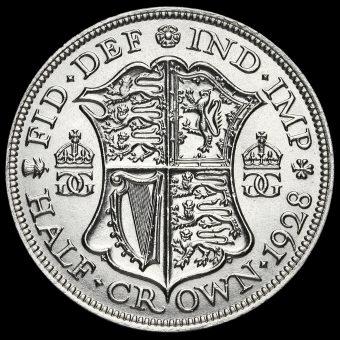 1928 George V Silver Half Crown Reverse