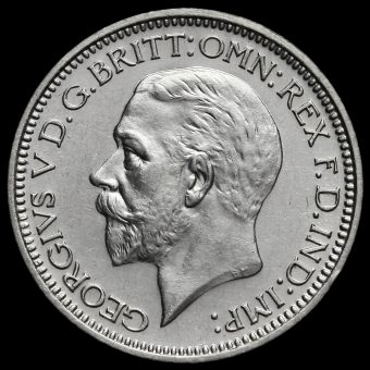 1929 George V Silver Maundy Fourpence Obverse