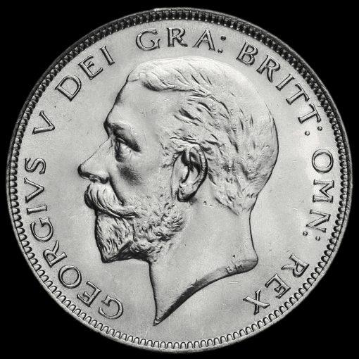 1931 George V Silver Half Crown Obverse