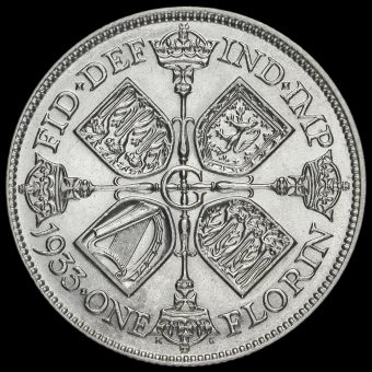 1933 George V Silver Florin Reverse
