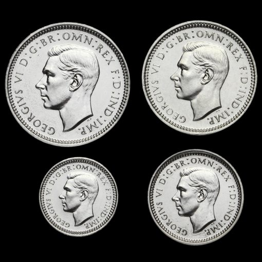 1937 George VI Silver Proof Maundy Set Obverse