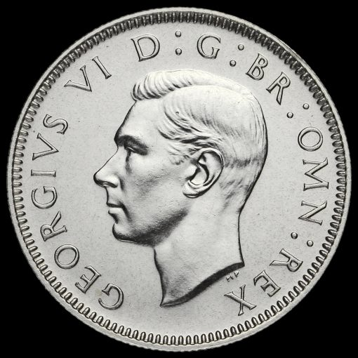 1937 George VI Silver Proof English Shilling Obverse