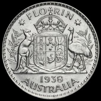Australia 1938 George VI Silver Florin Reverse