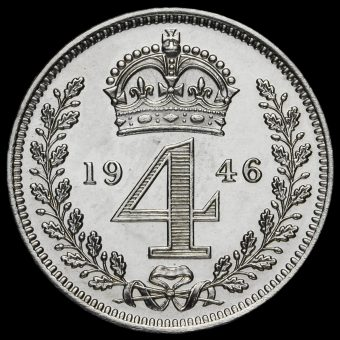 1946 George VI Silver Maundy Fourpence Reverse