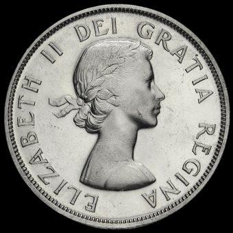 Canada 1959 Elizabeth II Silver Dollar Obverse