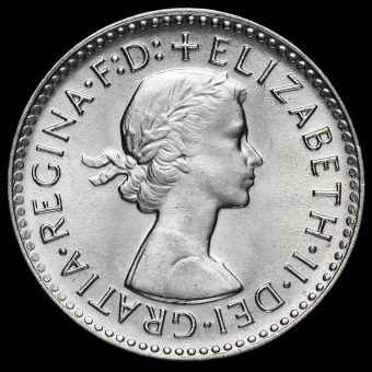 Australia 1960 Elizabeth II Silver Threepence Obverse