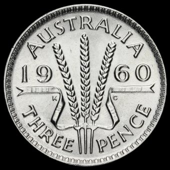 Australia 1960 Elizabeth II Silver Threepence Reverse